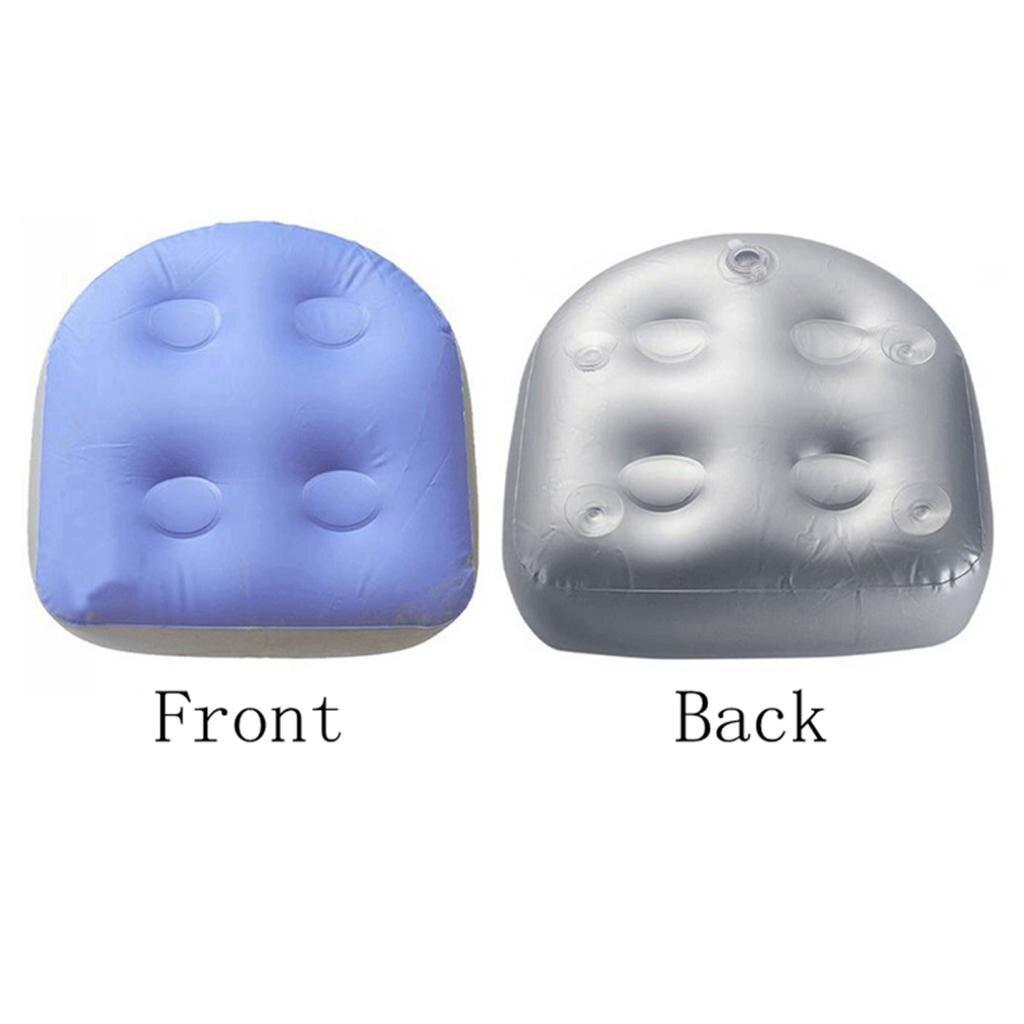 2 pces sucção acima do assento do impulsionador da banheira de hidromassagem dos termas almofada inflável para adultos 47x37x15cm