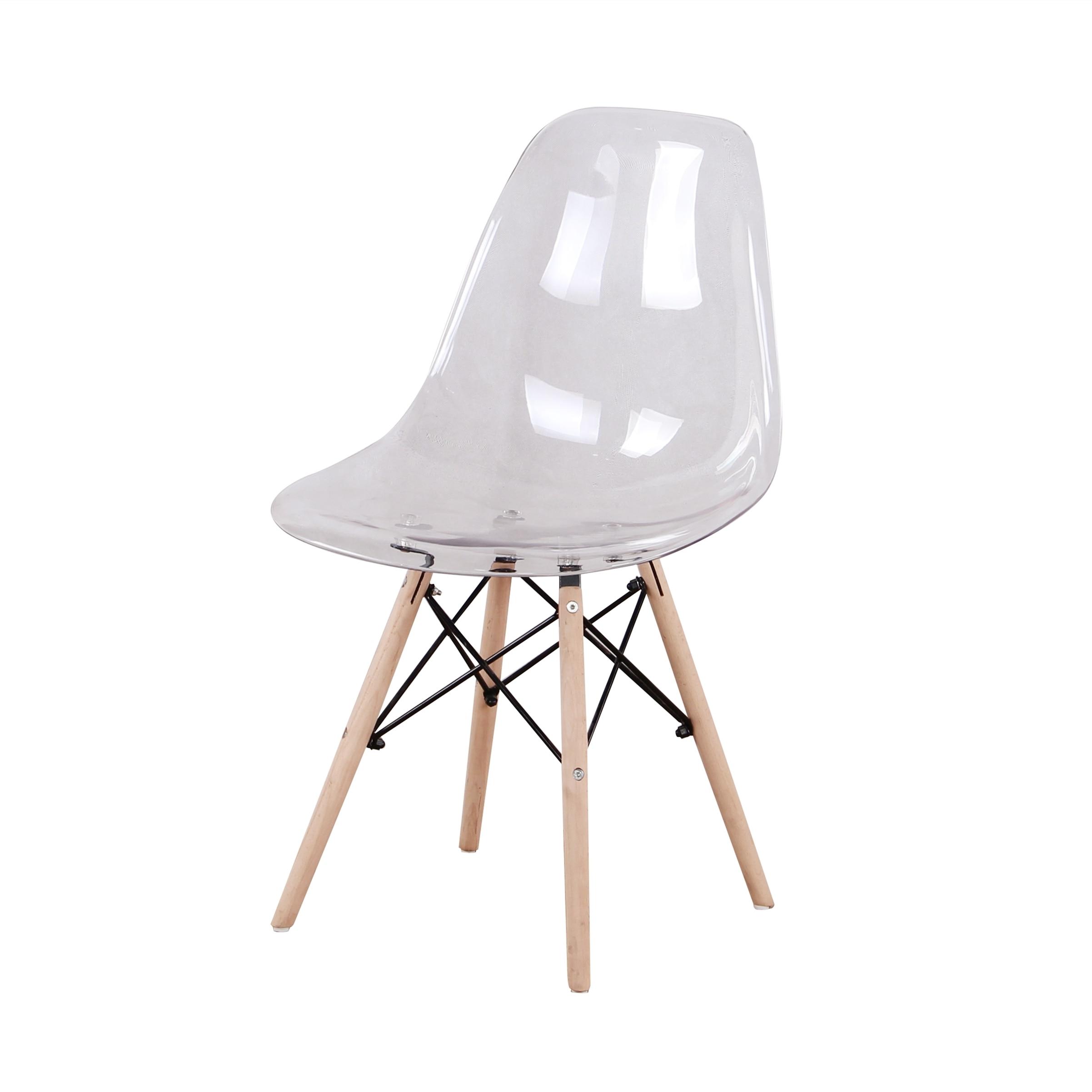 طقم من 4 ، مقعد ABS ، أرجل زان طبيعية ، لكراسي المكتب/كراسي غرفة المعيشة/كراسي الطعام