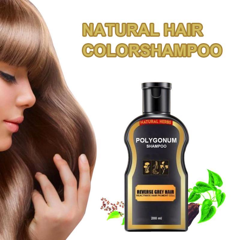 Champú para el cabello permanente negro, de 30ml, con Color Natural Herbal, champú Wow, champú para la pérdida de cabello de Color gris, champú para el cabello de Color jengibre TSLM2