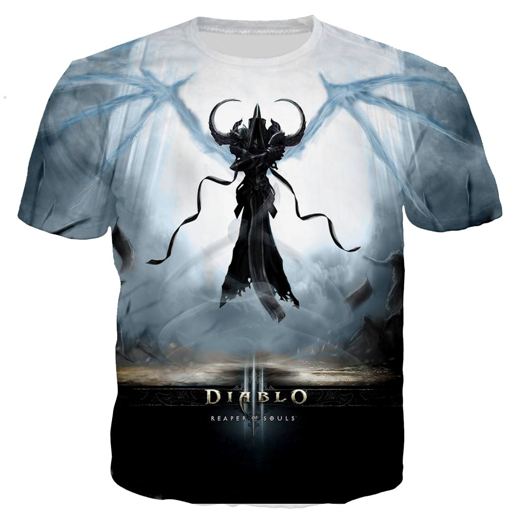 Men/women 2021 New Fashion Summer Shirts 3D Diablo 3 Reaper of Soul Printed T-shirt Casual Harajuku Hip Hop Streetwear Tee Tops