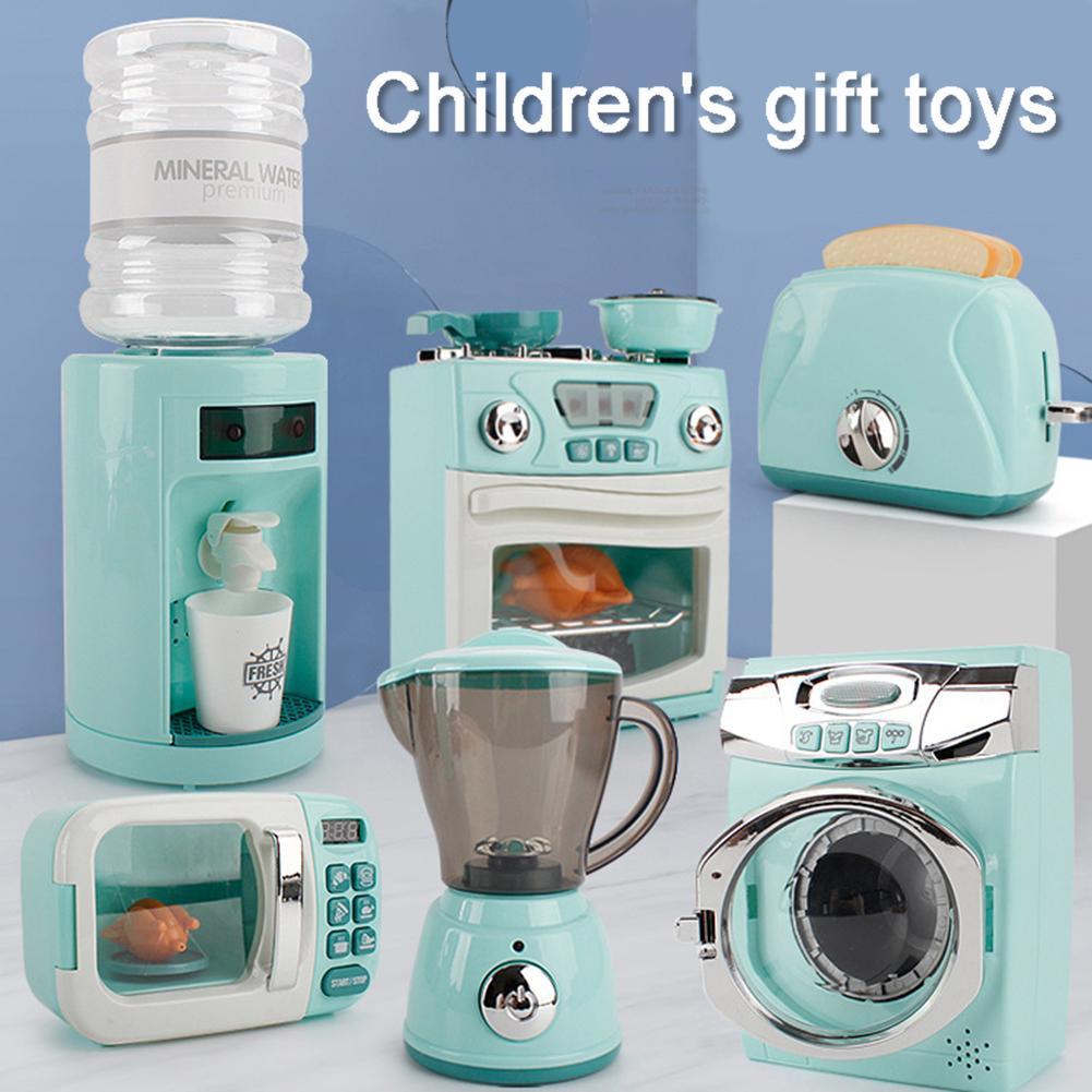 Household Appliances Pretend Play Kitchen Children Toys Coffee Machine Toaster Blender Vacuum Cleane