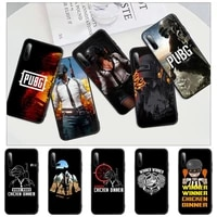 pubg chicken black silicone cell phone cover for honor 7a pro 7c 10i 8a 8x 8s 8 9 10 20 lite case