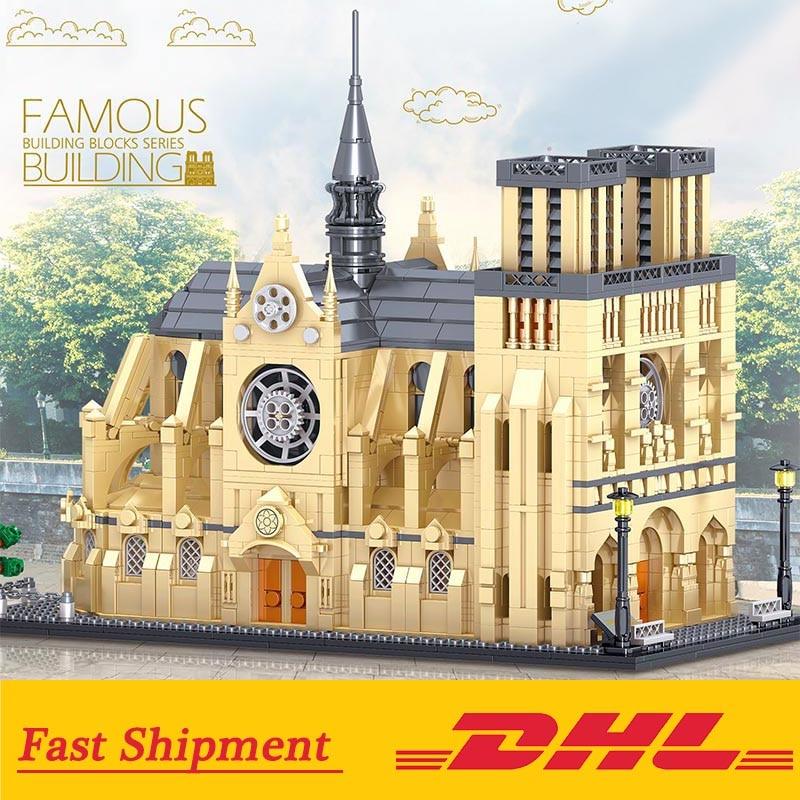 Architecture Cathédrale Notre Dame de Paris Building Blocks Brick Model Toys Children Birthday Gift