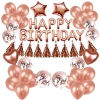 rose gold wedding birthday party balloon happy birthday baby anniversary event party decoration supplies
