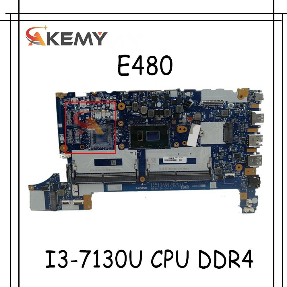 لينوفو ثينك باد E480 E580 اللوحة المحمول 01LW179 EE480 EE580 NM-B421 الرئيسي مجلس SR3JY I3-7130U CPU DDR4