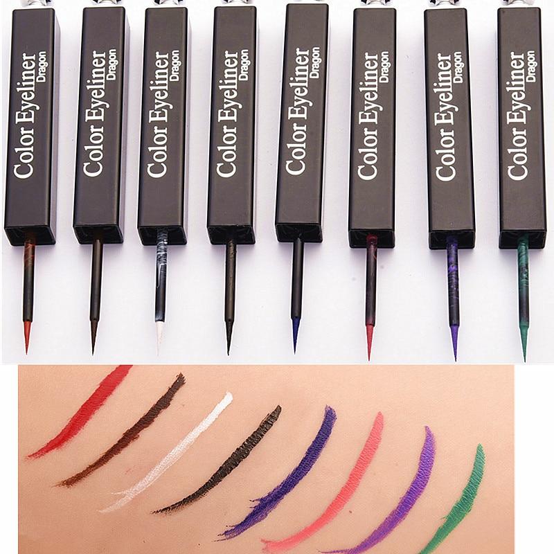 Lápiz Delineador de ojos líquido, nuevo, blanco, rojo, azul, verde, morado, negro, duradero, resistente al agua, maquillaje para escenario, 1 Uds