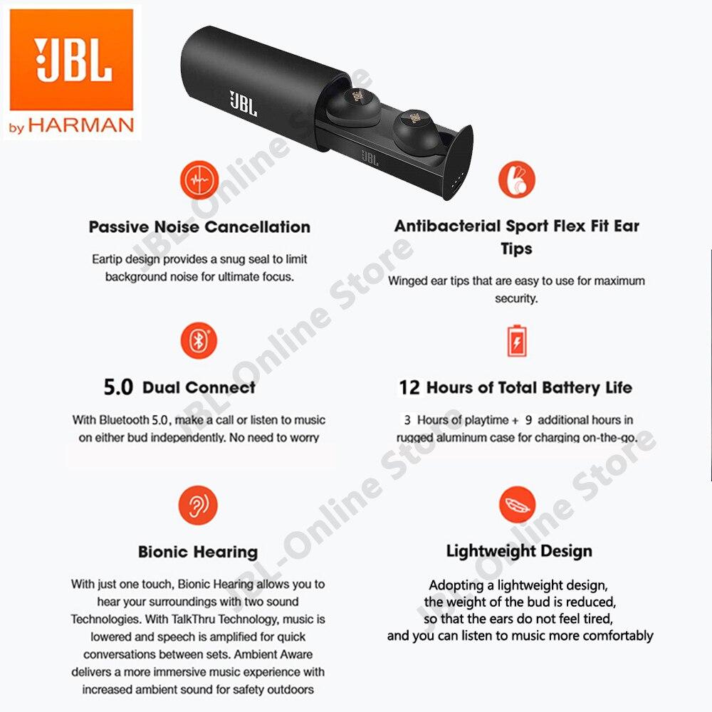 JBL C230TWS True Wireless Bluetooth Headphone Original C230 TWS In-Ear Stereo Headsets with Mic Deep Bass Earbuds Sport Earphone enlarge