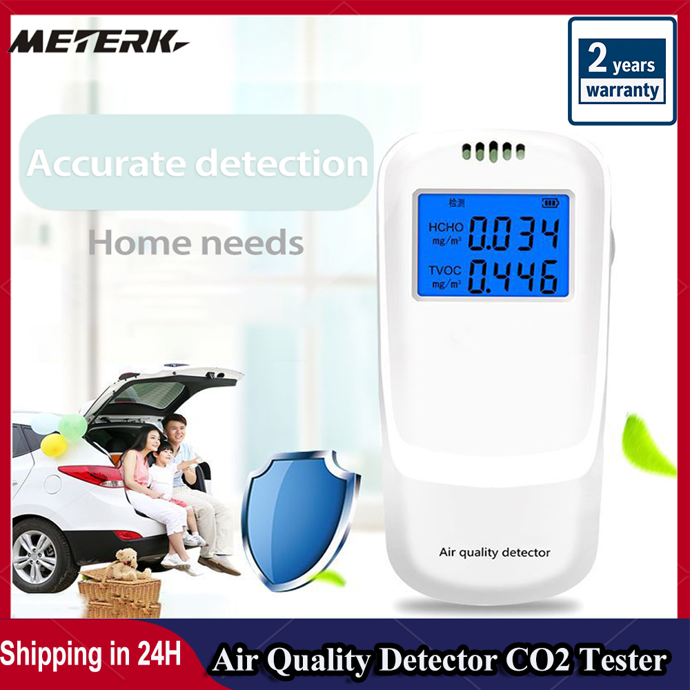 Interior portátil co2 medidor de gás detector multifuncional casa qualidade do ar monitor analisador inteligente doméstico sensor co2