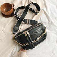 Роскошная забавная сумка для женщин, поясной кошелек на толстой цепочке, нагрудная Женская сумочка через плечо, дизайнерский брендовый сак...