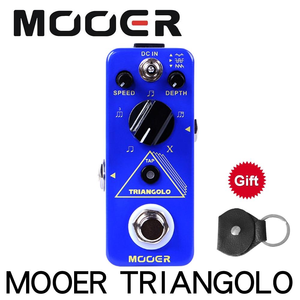 Mooer MTR3 triangulo trémolo Digital con Pedal de efectos de Micro guitarra Tap Tempo