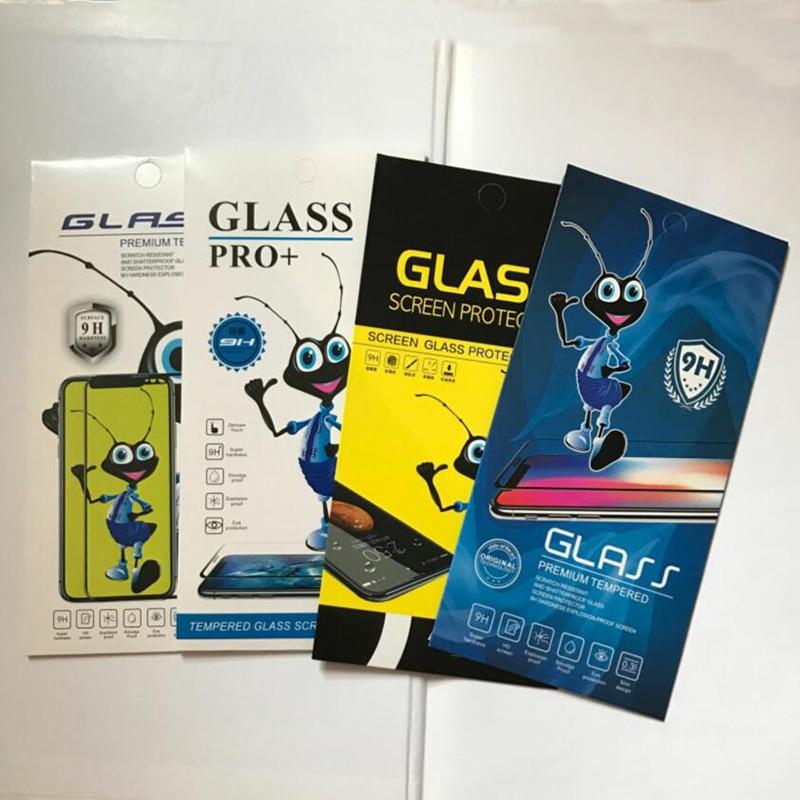 1000 Uds. Bolsa de embalaje de papel Universal de diseño Ant para iphone 11X8 7 6S Protector de pantalla de vidrio templado