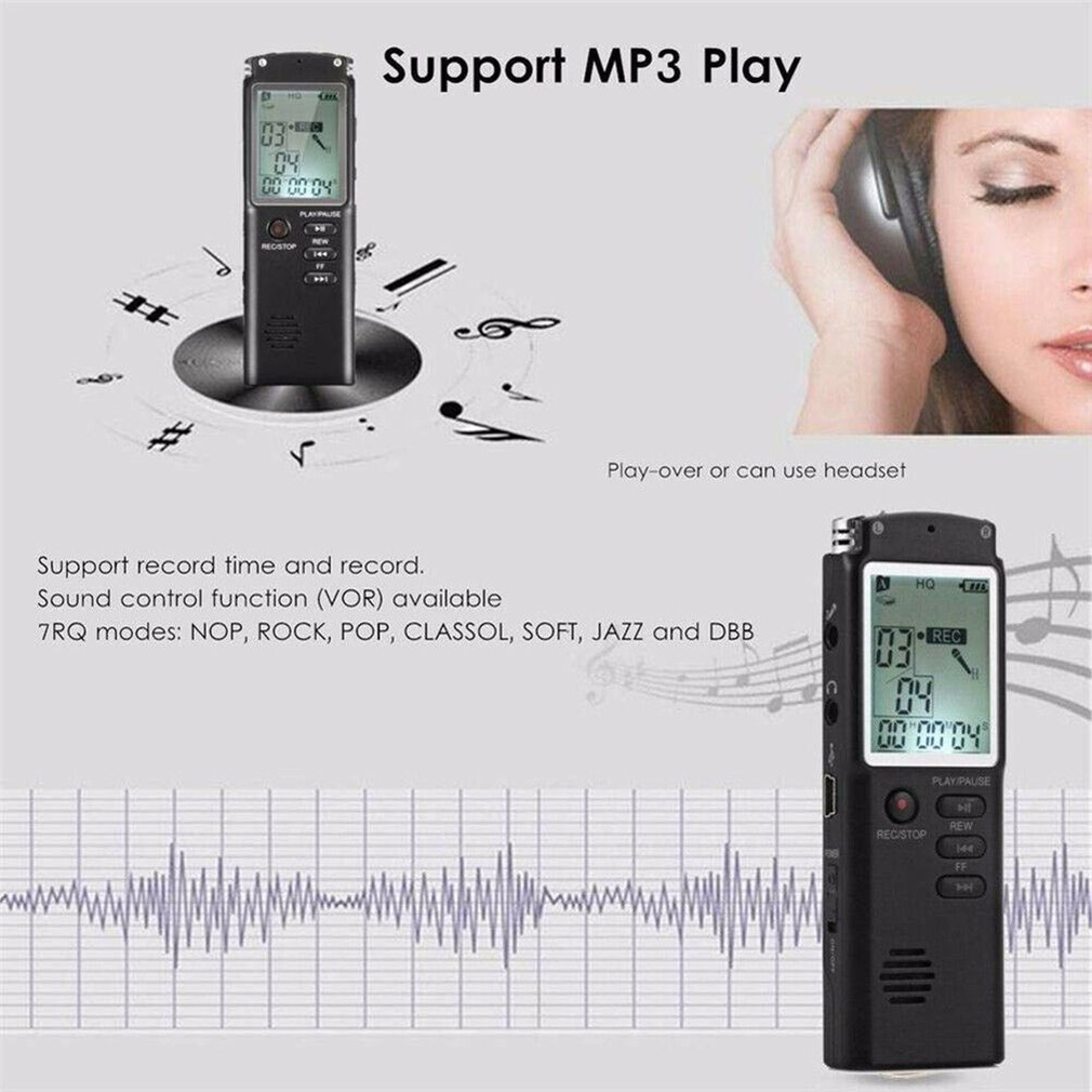 MP3 Player 8GB/16GB/32GB Voice Recorder USB Professional 96 Hours Dictaphone Digital Audio Voice Recorder With WAV enlarge