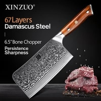 xinzuo 6 5 bone chopper vg10 damascus steel kitchen knives rosewood handle household fish bone meat cleaver knife for chicken