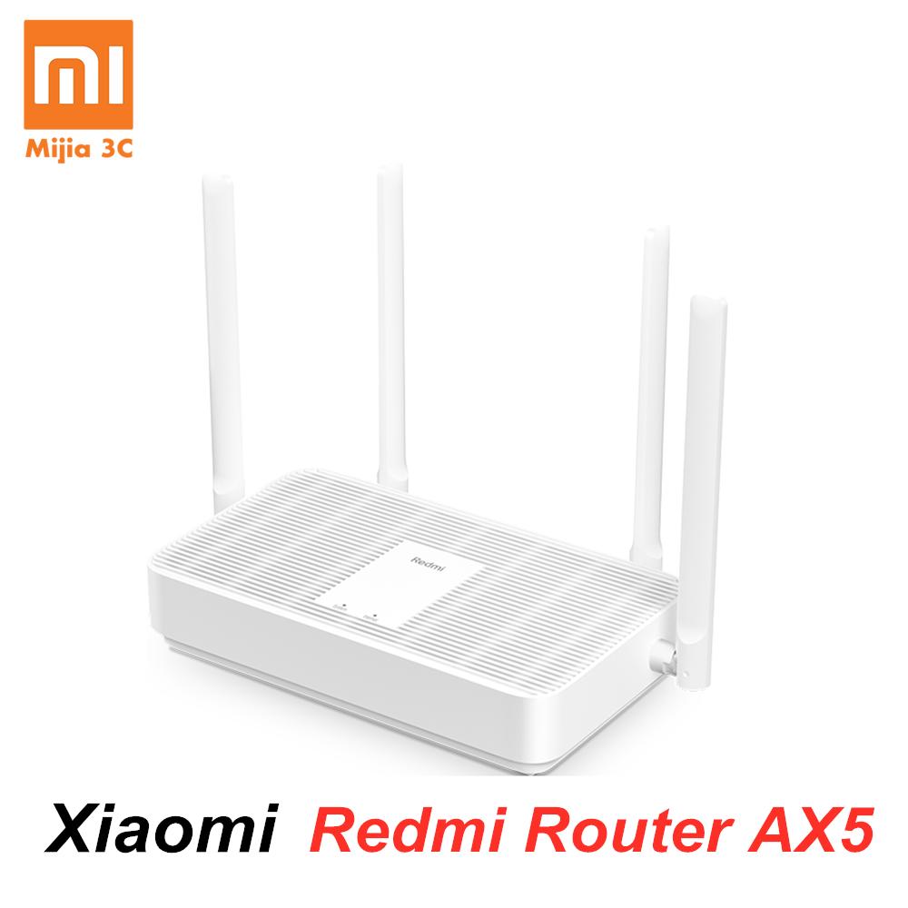 Xiaomi-راوتر Redmi AX5 wi-fi 6 ، جيجابت 2.4/5.0 جيجاهرتز ، ثنائي النطاق ، مكرر ، 4 هوائيات عالية الكسب ، جديد