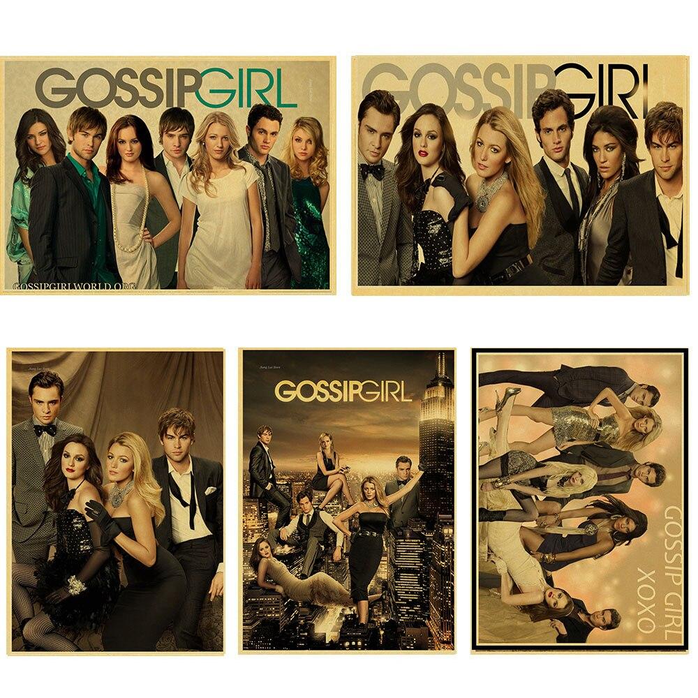 Cartel Vintage, cartel de chica Gossip, cartel retro juvenil de Kelaifuliqiesi