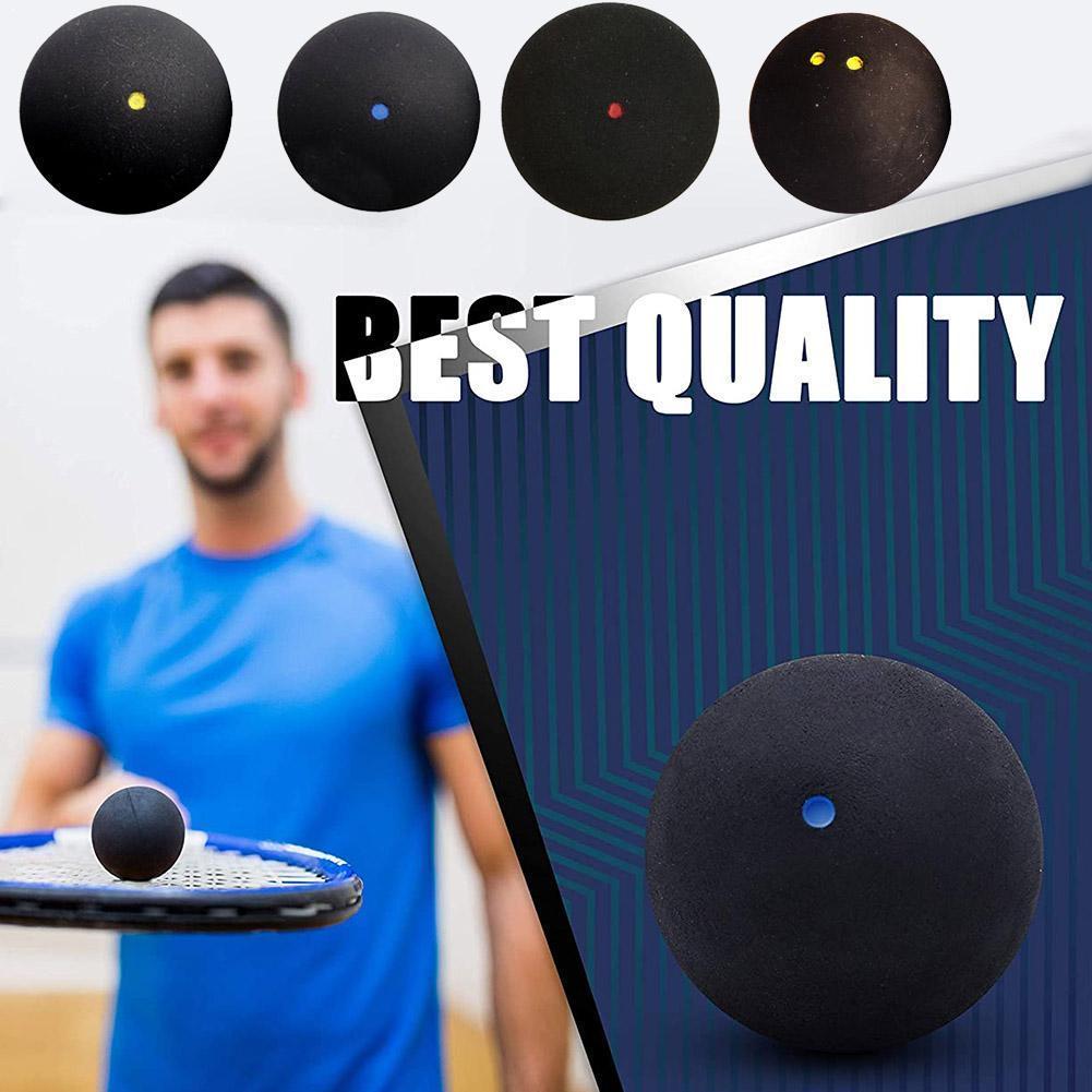 Одинарный синий точечный Сквош-мяч, высокоскоростной тренировочный резиновый мяч для начинающих C5H7