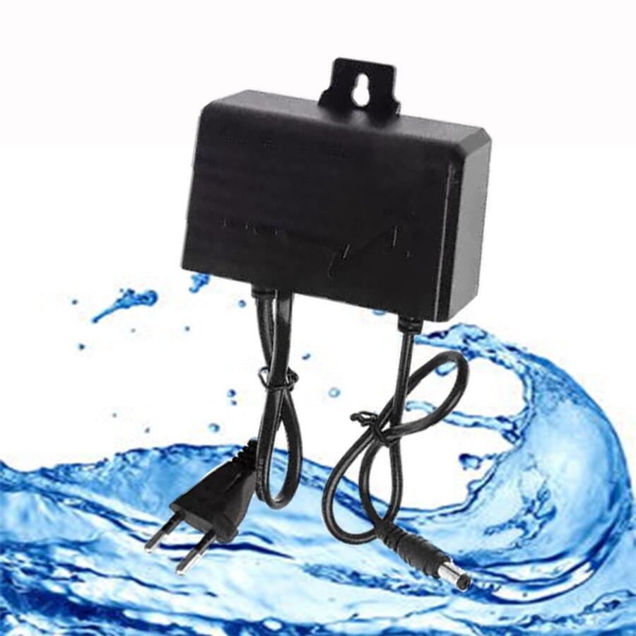 Cargador/adaptador de corriente Universal 12V2A para exteriores, 12 voltios, fuente de alimentación conmutada a prueba de agua, adaptadores a prueba de lluvia, enchufe europeo de seguridad CCTV
