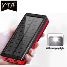 Solar Wireless 80000mah Power Bank Portable Charger Large Capacity 4USB External Battery Fast Chargi