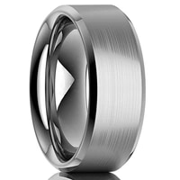 8mm classic men ring stainless steel simple silver color bands wedding fashion jewelry for men christmas gift