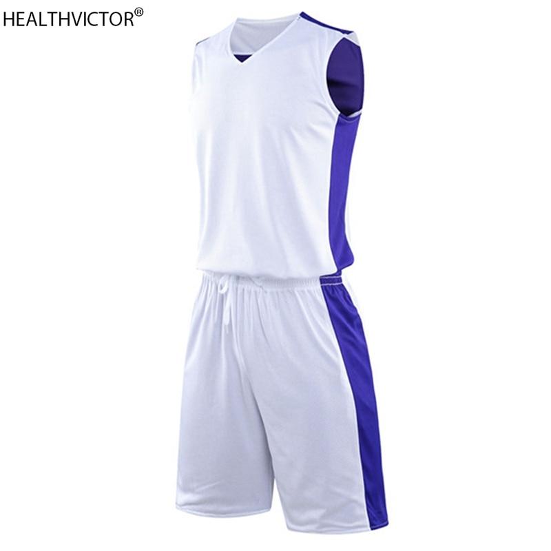 Réversible AB Wear respirant séchage rapide sans manches sport costume gilet Shorts blanc unisexe hommes femmes basket maillots ensemble uniforme