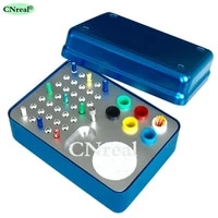 41 holes dental disinfection sterilization holder block box case for endo files gutta perch absorbent paper points