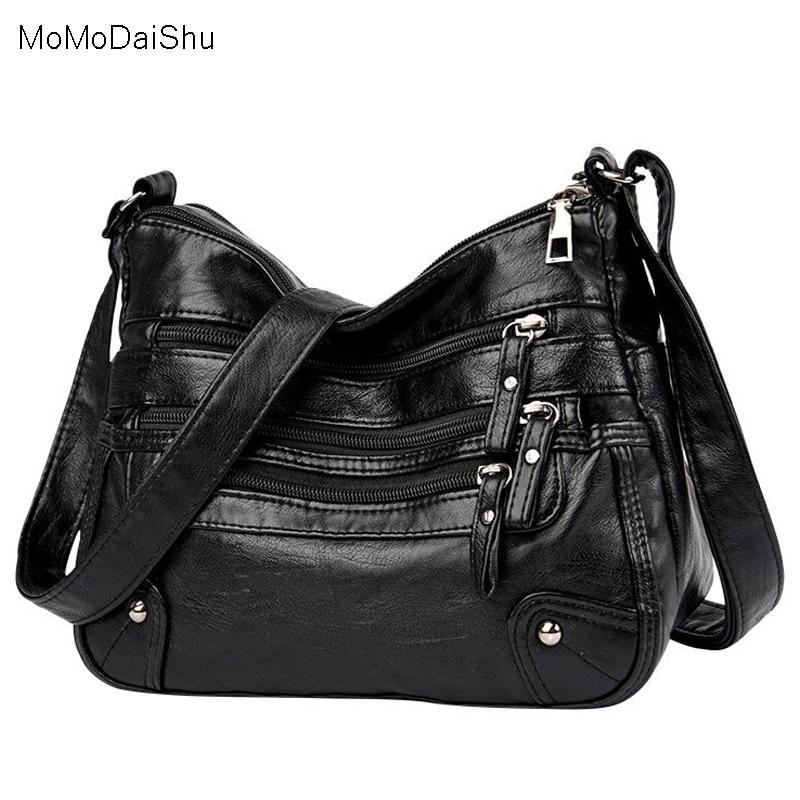 High Quality Women's Soft Leather Shoulder Bags Multi-Layer Classic Crossbody Bag Luxury Designer Handbag and Purse