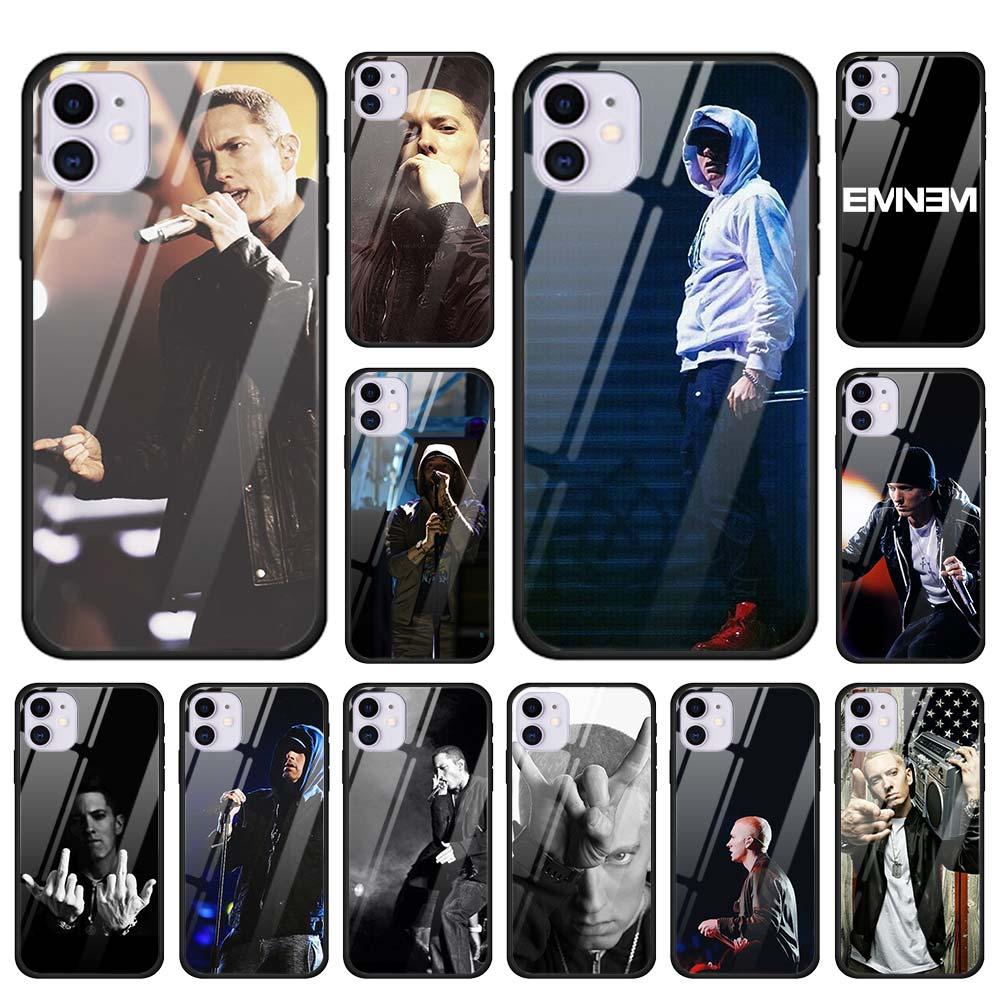 Cantante Eminem de vidrio templado funda para teléfono para iPhone 11 Pro Max SE 2020 X XR XS MAX 7 8 Plus 6 6s Plus funda carcasa