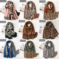 visrover tropical natural animal leopard beach scarves big shawl printing scarf hijab women scarfs fashion for summer wholesales