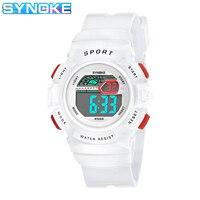 SYNOKE студенческие Детские наручные часы белые цветные часы для мальчиков детские часы для девочек кварцевые часы Relogio Feminino 9568