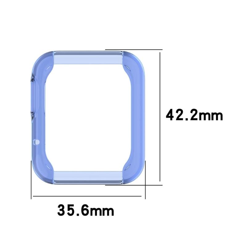 Купить с кэшбэком Ultra-slim TPU Watch Case Skin Protective Cover for Xiaomi Mi Watch Lite Global Version for Redmi Watch