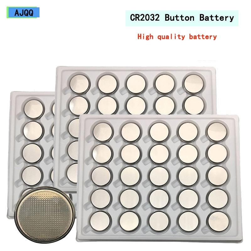 Недорогие аккумуляторы AJQQ 200 шт., Cr2032, 2032, 3 в, аккумуляторы для часов, компьютера CR 2032