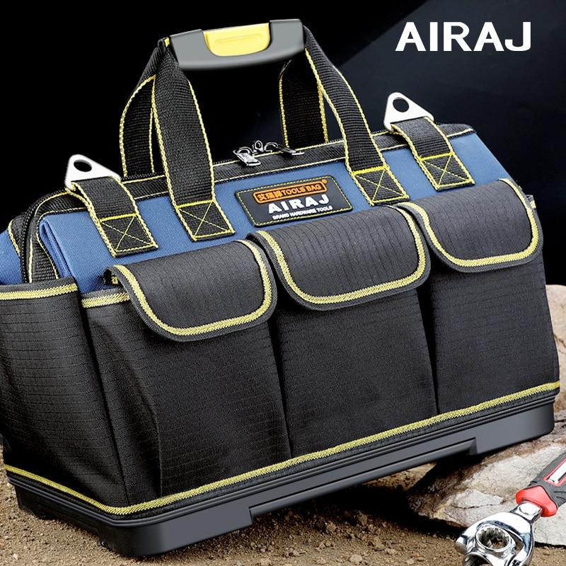 AIRAJ 다기능 도구 가방 1680D 옥스포드 헝겊 전기 가방, 멀티 포켓 방수 안티 가을 저장 가방