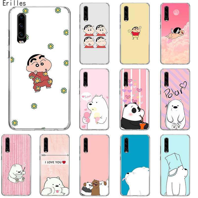 Gordo lindo oso funda del teléfono para Huawei P10 P20 P30 P40 Lite P20 P30 Pro Mate10 20 Lite P Smart Z 2018 19 espalda suave Capa Cas