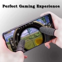 finger sleeves for gaming mobile game contact sn finger cot smooth thin anti sweat for pubg mobile games2 pcs