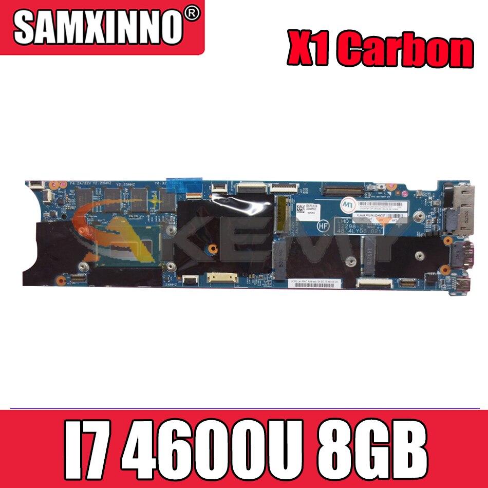 Akemy لينوفو ثينك باد X1 الكربون اللوحة المحمول 12298-2 48.4LY06.021 وحدة المعالجة المركزية I7 4600U 8GB 100% FRU 00HN758 00HN770