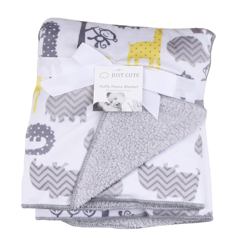 Infant Newborn Baby Blanket Winter Fluffy Fleece Kids Muslin Blanket Swaddle Stroller Fleece Blankets Kids Afternoon Nap Quilt free shipping infant children cartoon thick coral cashmere blankets baby nap blanket baby quilt size is 110 135 cm t01