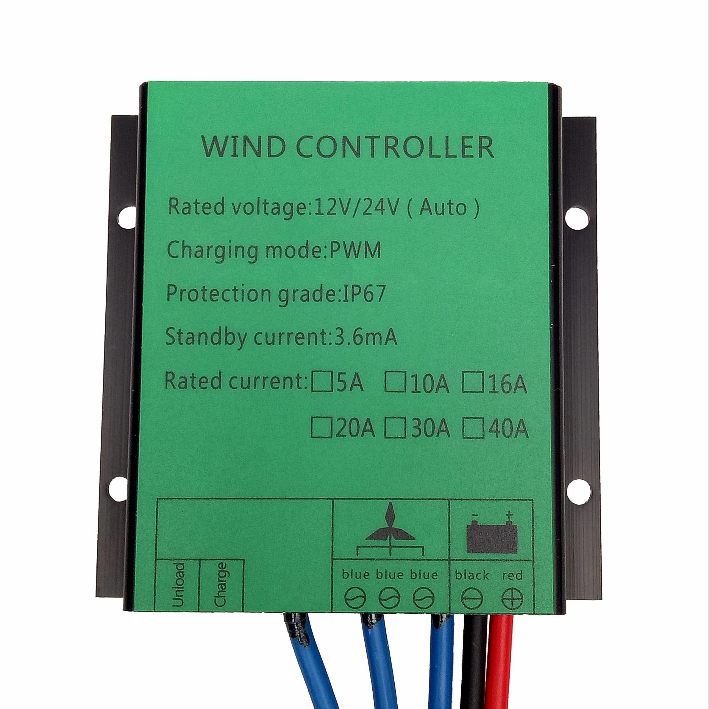 100 واط ~ 720 واط 10A/16A/20A/30A 12 فولت/24 فولت/48 فولت PWM الرياح جهاز التحكم في الشحن ل مولد تربيني الرياح ، 12 فولت/24 فولت التكيف الذاتي ، المياه برهان