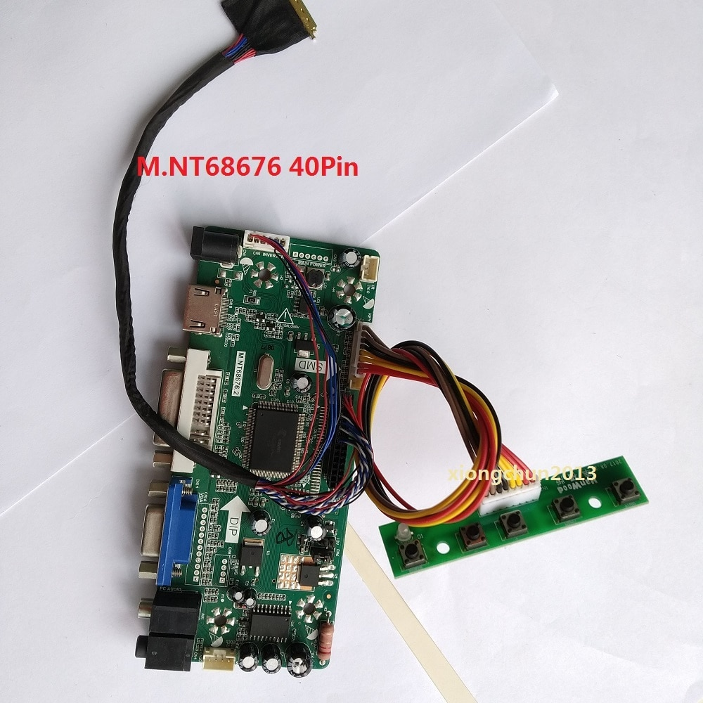 "Kit Para Áudio DVI N140BGE 14 ""LVDS 40pin Tela Do Painel 1366X768 placa de driver de Controlador HDMI LCD DIY VGA LEVOU 2019 Motorista"