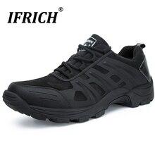 Hommes en plein air chaussures de randonnée imperméable tactique Combat armée bottes désert formation Sneaker anti-dérapant Trekking chaussures Police travail chaussure