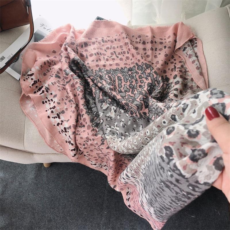 2020 moda pintura leopardo dot viscose xale cachecol senhora impressão hijabs e envoltórios foulard pashminas roubou sjaal muçulmano 180*90cm