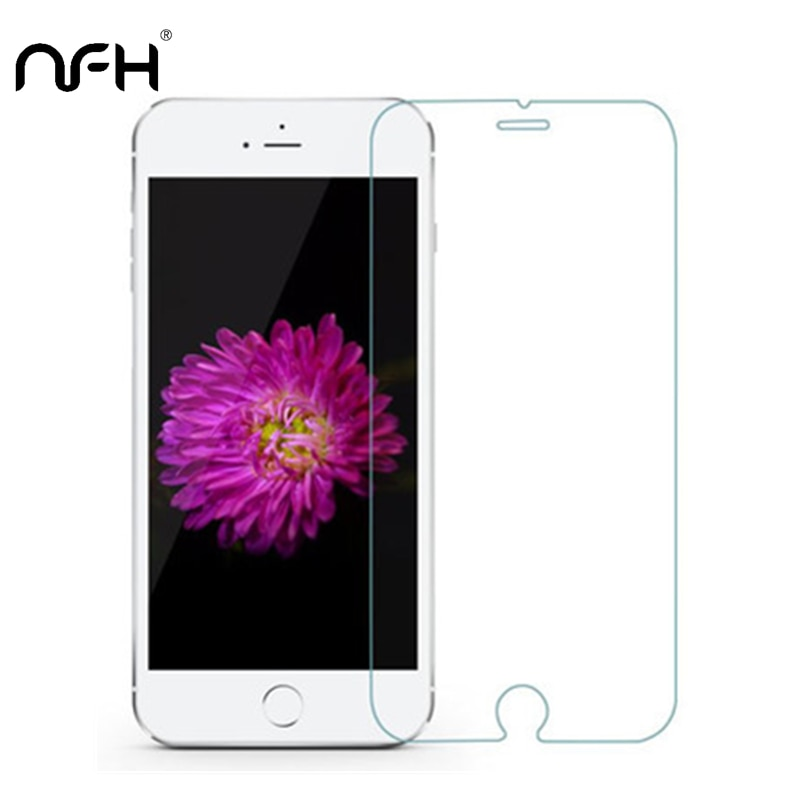 Vidrio Templado NFH de 0,3mm para iPhone X 4S 5 5C SE 9H protección contra rotura de pantalla para iPhone 6S Plus 7 8 2.5D carcasa en 5S