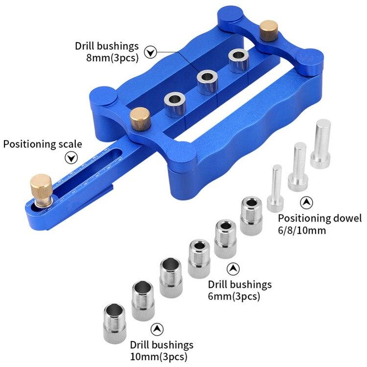 محدد موقع الحفر لأدوات النجارة ، محدد موقع الثقوب المستقيمة ، دبابيس خشبية مستديرة ، قضبان خشبية مستديرة ، محدد موقع الحفر