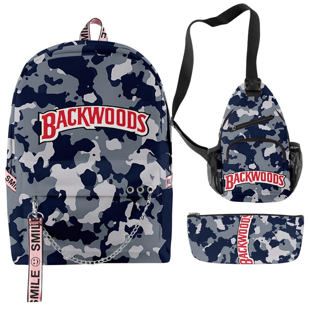 3D Printing Backpack Backwoods Cigar Set Backpack Men and Women Schoolbag Student's Backpack Support Customization