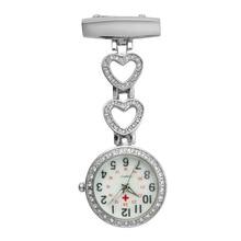 Fashion Pendant Hang Quartz Clock Nurse Watches Women Pocket Watch Clip-on Heart For Doctor