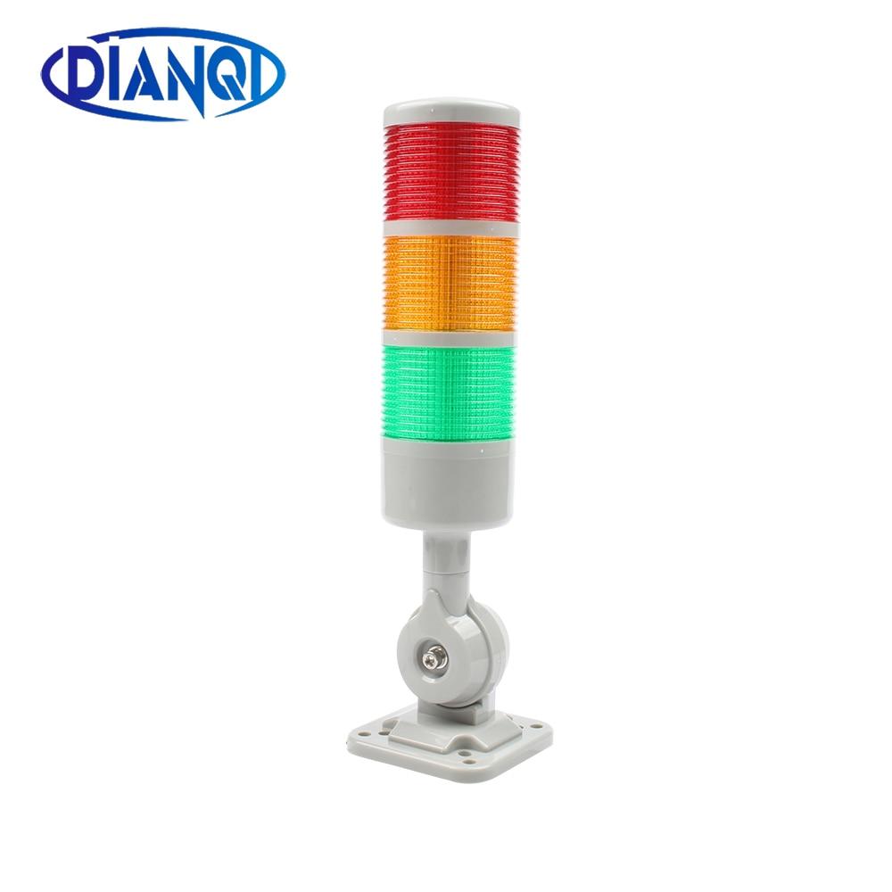 3 schichten Drehbare 180 Stapel licht Rot warnung licht industrie für CNC maschine DC 24V 12V AC220V 110V Stetig blitzen licht LED