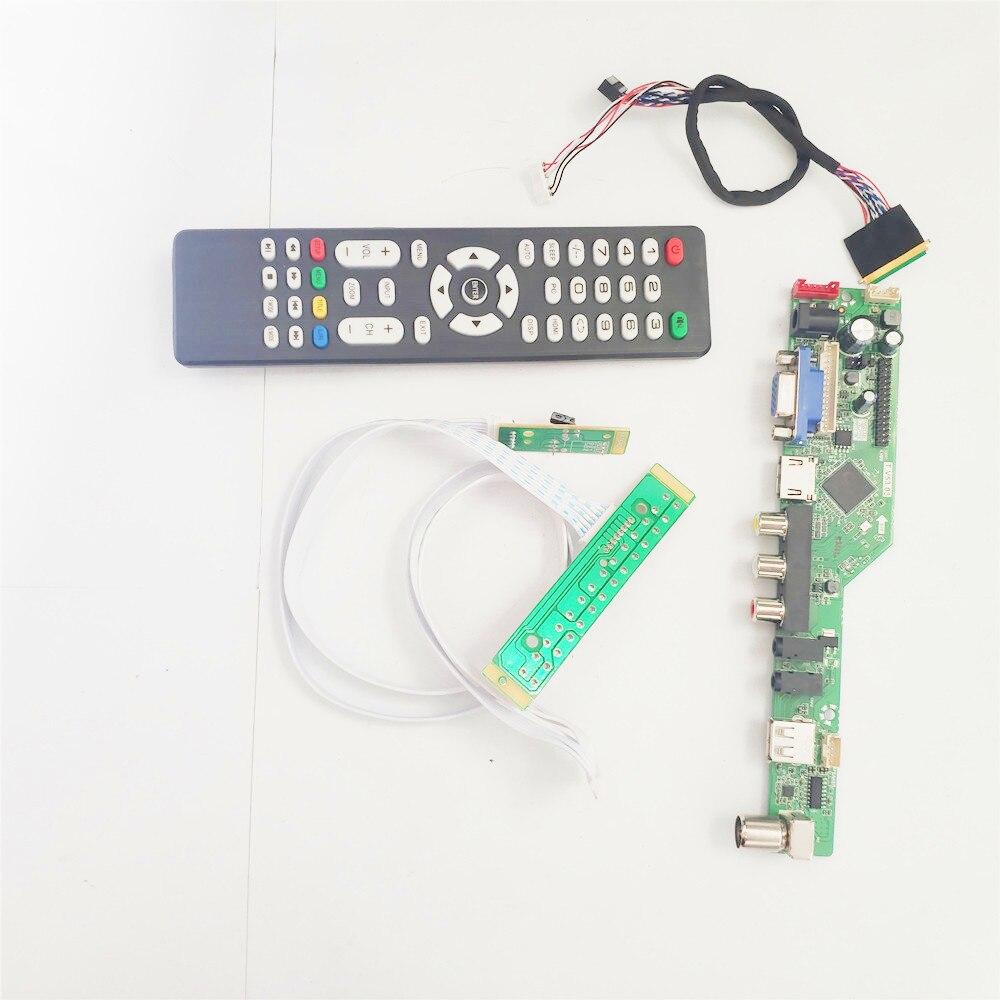 """Para LP140WH1-TLA4/tlb1 14 """"1366*768 pc t. v53 placa controladora de tela lvds 40pin wled vga + hdmi-compatível + av + usb + rf"""