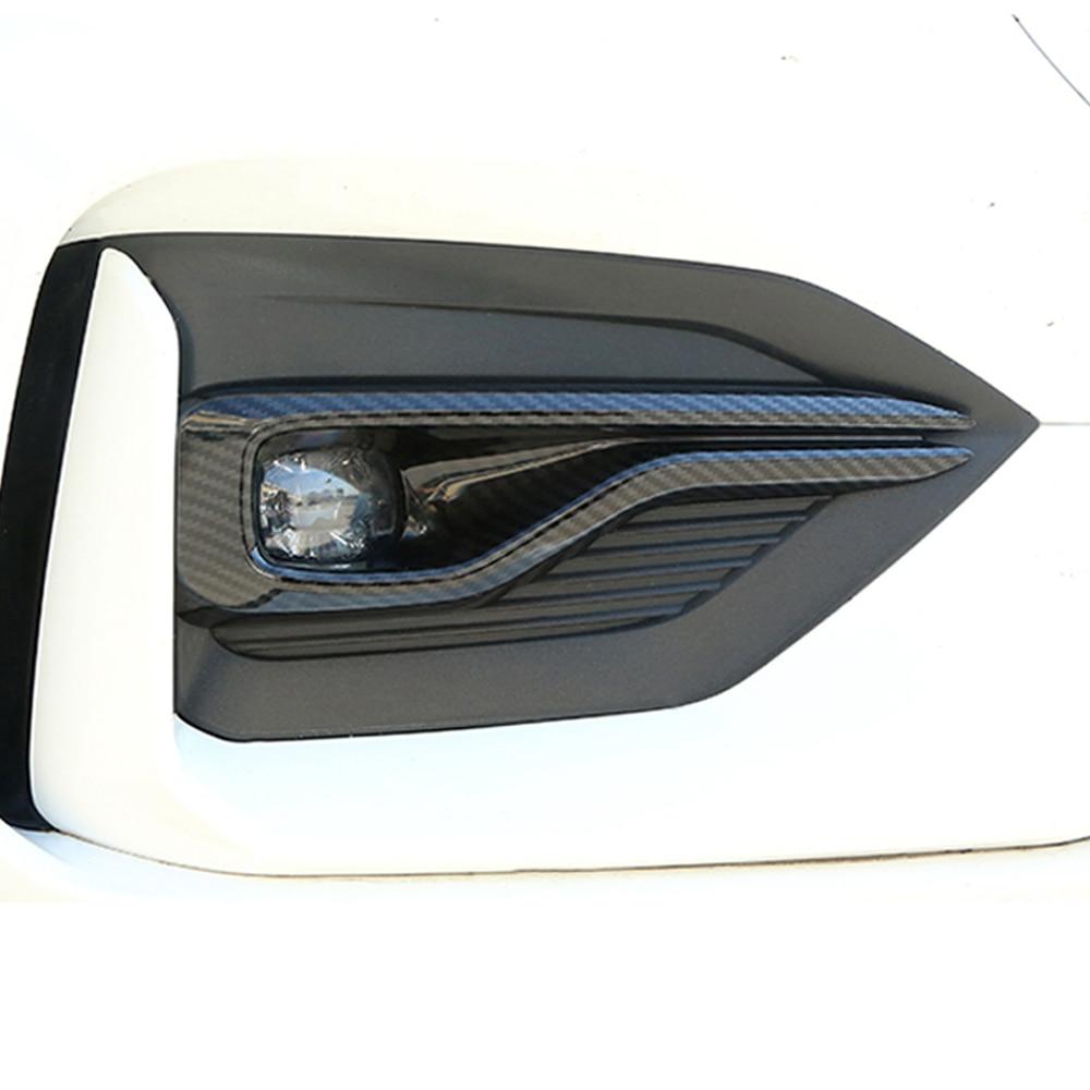 2pcs Carbon Fiber Front Foglight Fog Light Head Lamp Cover Trim Frame ST-Line For Ford Focus 4 MK4 2019 Exterior Accessories