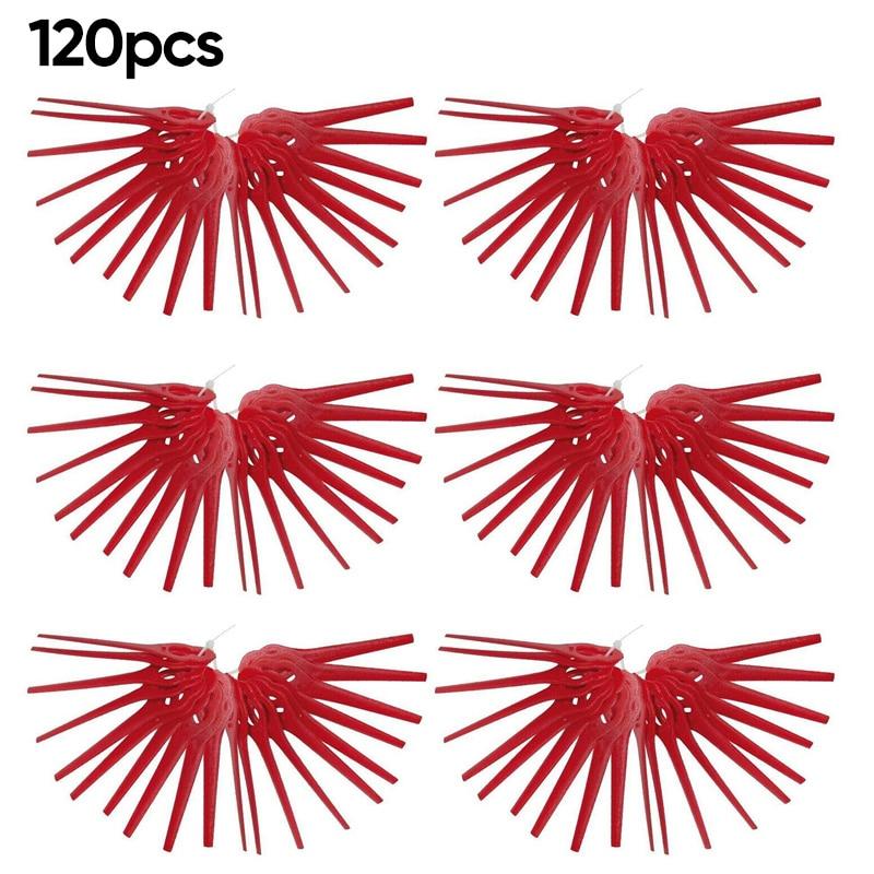 120 Uds., cuchillas de plástico, colgantes para jardín de césped Florabest, accesorio de repuesto para exteriores