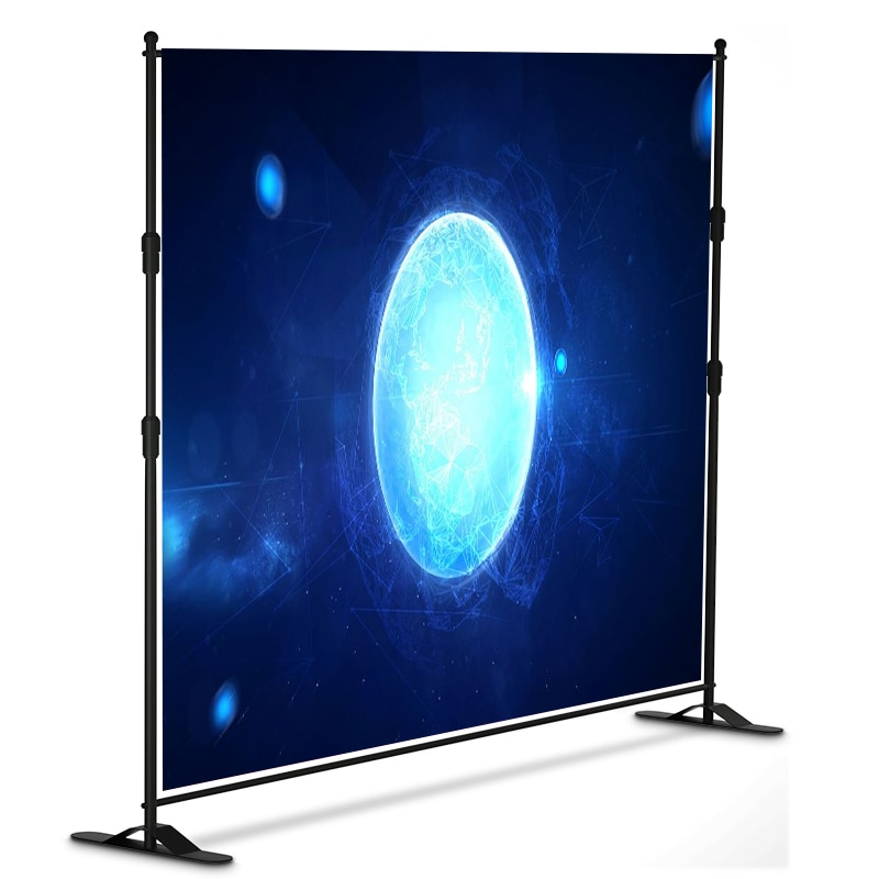 10 x 8 ft Adjustable Background Stand Kit , Portable Photography Trade Show Photo Booth Background for Parties with Carrying Bag