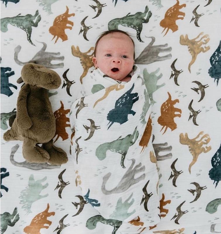 Manta de muselina de bambú 70% para bebé, cubierta de muselina para...